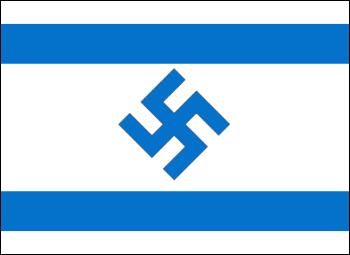 Resultado de imagen de foto bandera de israel con esvastica