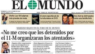 Rajoy en El Mundo
